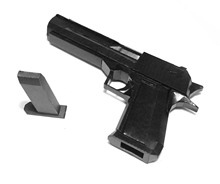 Cosplay Toy Paper Gun Craft Model 1:1 Desert Eagle Game Party Gift For Boy Kids Child