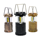 Custom Portable Small Extendable Switch Tent Light 3AAA Dry Battery Outdoor Lamp 3x3W COB LED Mini Camping Lantern for Emergency