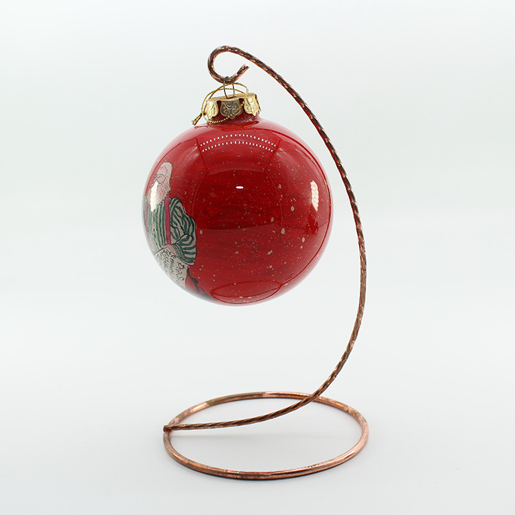Christmas Decorations Xmas Tree Hanging Hand Painted Glass Christmas Ball For Streets