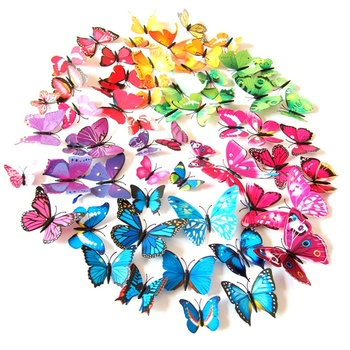 Zogifts Wholesale Cheap Custom 3D butterfly PVC Fridge Magnets for Promotional Gifts