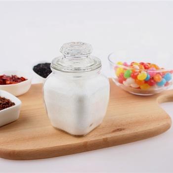 7oz Kitchen Decorative Glass Salt Pepper Bottle Spice Jar With Lid