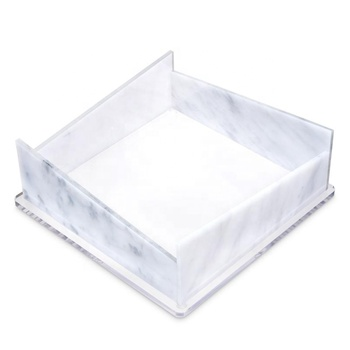 square plexiglass dining napkin holder acrylic lucite napkin holder
