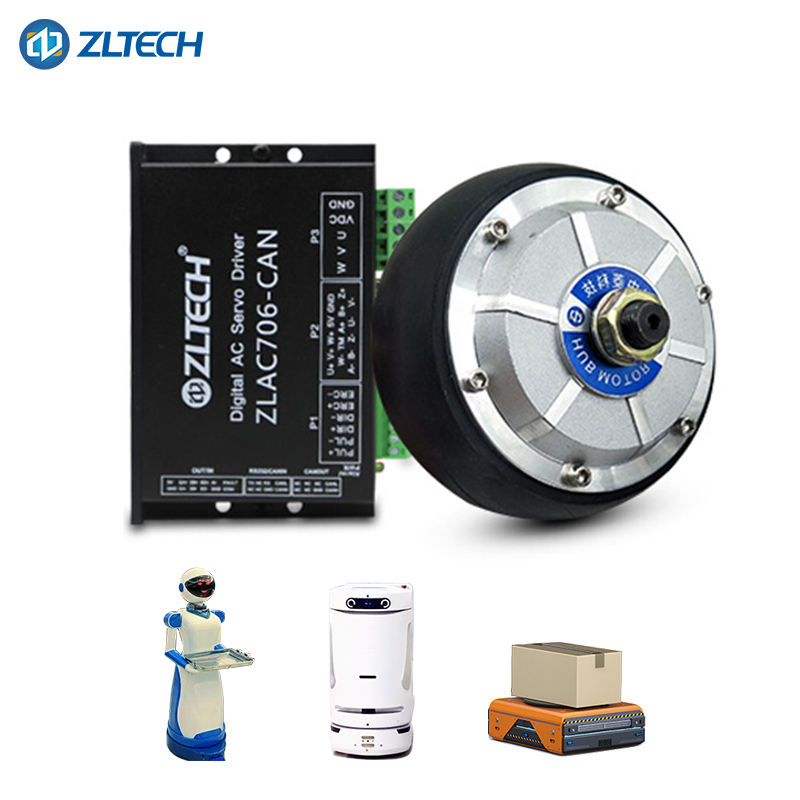 4 5 Inch 24v 200w Double Shaft Encoder Electric Wheel Bldc Drive Unit Motor  For Agv - Buy Bldc Motor Drive Unit,Electric Wheel Motor,Motor For Agv
