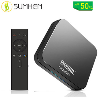 MECOOL KM9 Pro Google Certified Amlogic S905X2 Android TV 9.0 OS 4GB DDR4 32GB eMMC YouTube 4K TV Box with Voice Remote Dual Ban