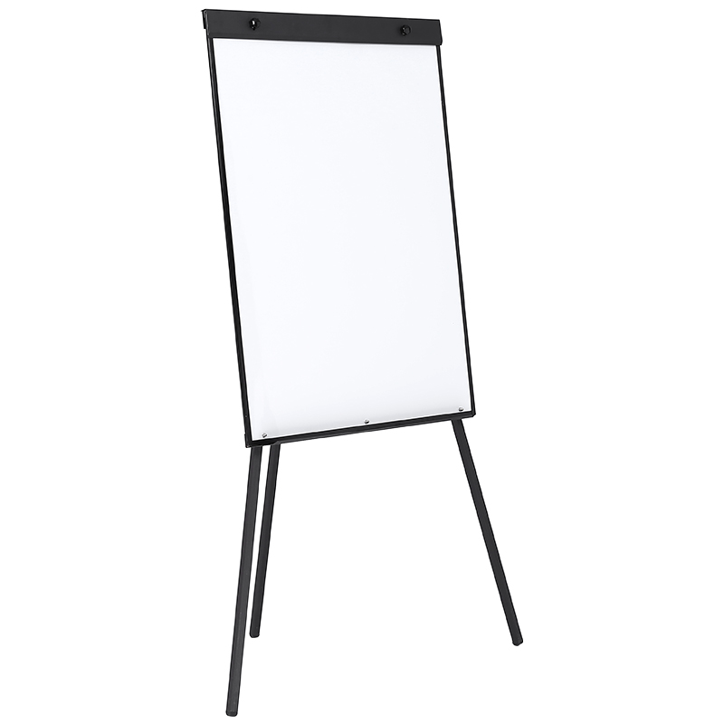 Amazon Hot Selling Black Painted Iron Stand Aluminium Frame Magnetische Flip Grafiek Whiteboard met Statief Iron Geschilderd Stand