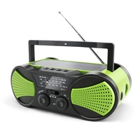 portable mp3 player solar hand cranking am fm multi band radio