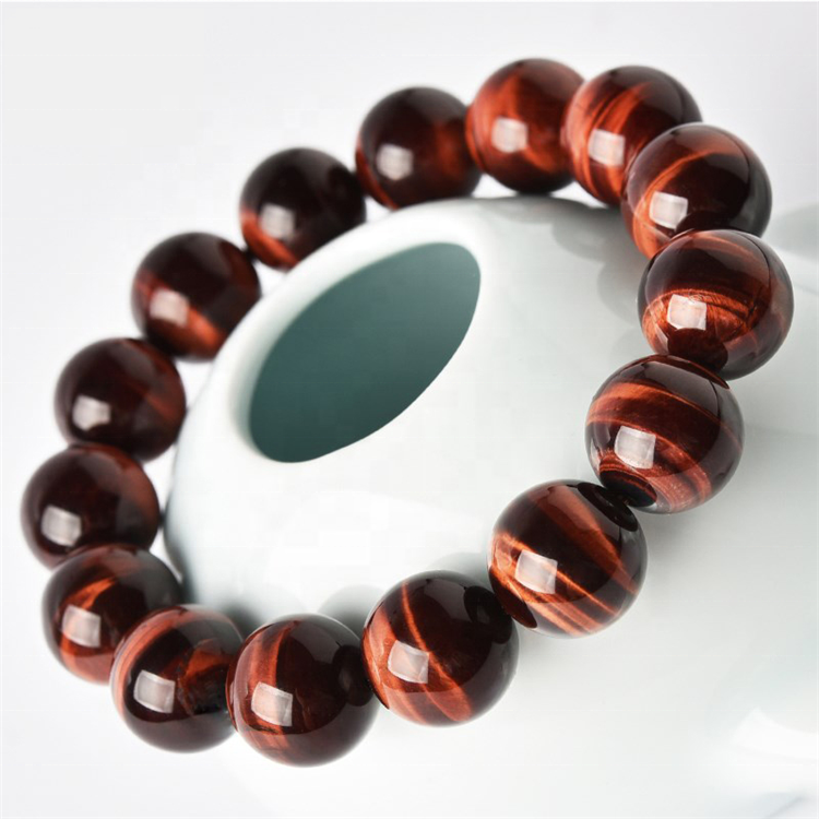 Fashion <strong>Bracelet</strong> <strong>red</strong> <strong>tiger</strong>-<strong>eye</strong> gemstone Beads <strong>Bracelets</strong> gemstone <strong>bracelet</strong> 16mm men and women