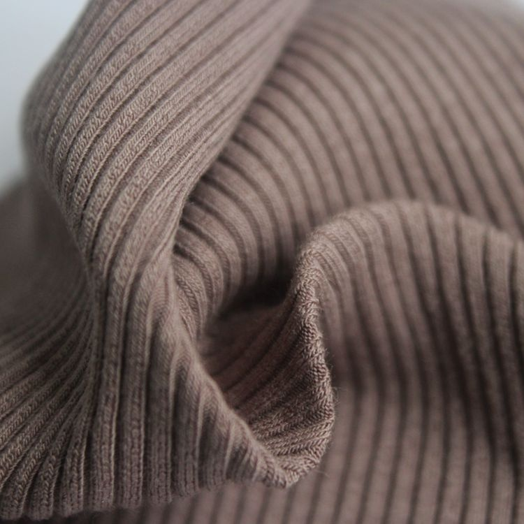 Lenzing 92% modal 8% spandex elastic 2x2 rib fabric