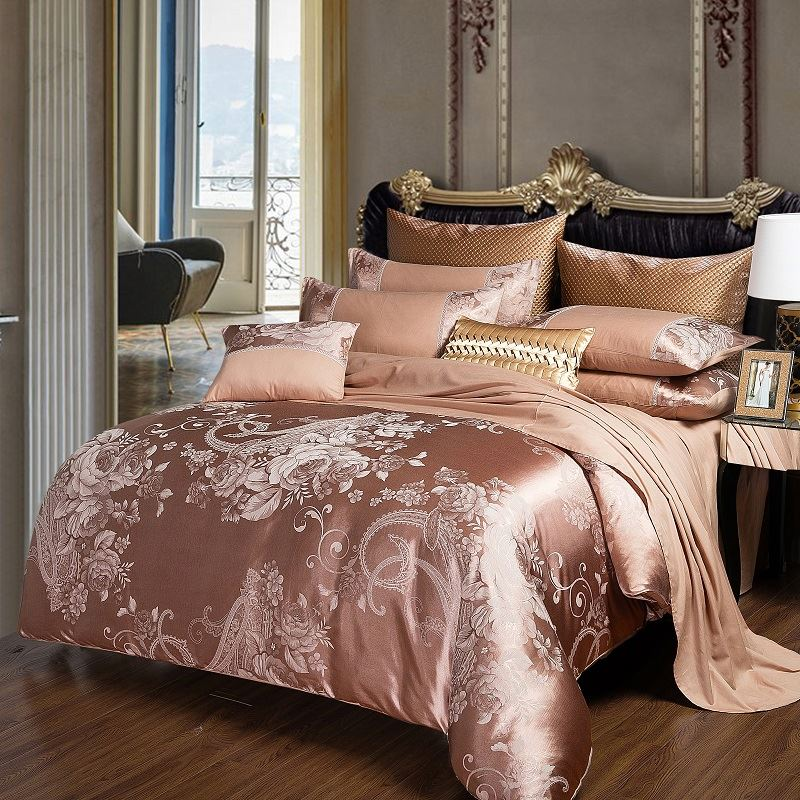 Harga 4 Pcs Jacquard Set Set Tempat Tidur Mewah
