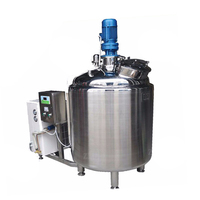 new Stainless steel sanitary food industrial water,chemical,sulfuric acid storage tank milk pasteurization tank