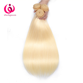 India Virgin Hair Extensions 613# Blonde Silky Straight Human Hair Bundles With 13X4 Lace Frontal
