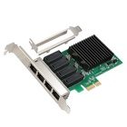 DIEWU PCI express to 4 RJ45 port 4 port gigabit network card 10/100/1000Mbps LAN Adapter Controller Wired Realtek 8111H