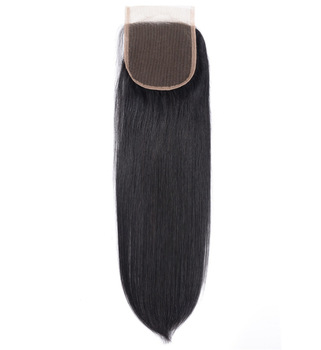 Large Stock Best Quality Dropshipping Unprocessed Indian Temple Lace Closure Straight Brazilian Closure