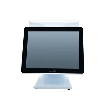 15 Inch White Dual Screen Point Of Sale Pos Operating System Cash Register Machine For Windows