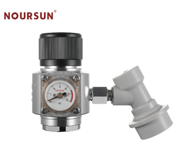 Aluminum/Brass/Stainless steel CO2 Mini high pressure Regulator with  1/4 MFL ball lock disconnect for home brewing