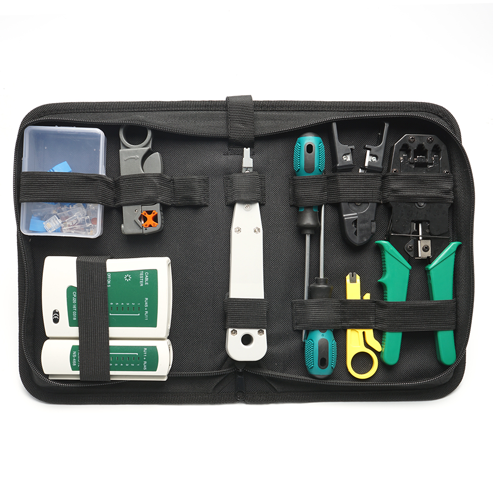 electronic technician networking toolkit professional LAN telecom installation electrical rj45 network tool <strong>kit</strong>