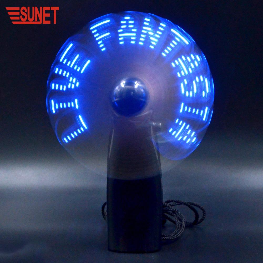 Best selling SUNJET High Quality Custom Mini LED Message Fan
