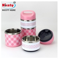 cute lunch box multi- layer stainless steel bento box for kids and students