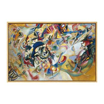 10 years manufacturer Free Samples Abstract Framed Canvas print kandinsky oil painting wall art