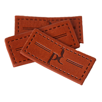 Custom Private Brand Design Personalized Patch Jeans Cow Skin Label Leather Patch