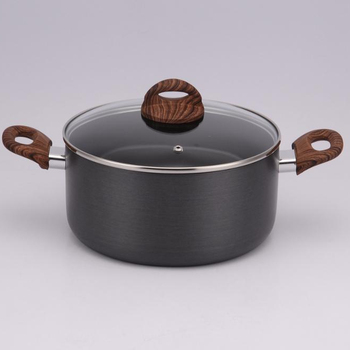 Hard anodized Aluminum Cookware set with bakelite handle