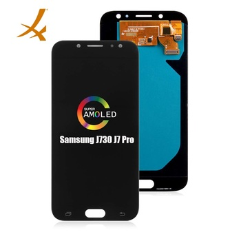 Super AMOLED mobile phone display for Samsung j730, lcd display for Samsung Galaxy j7 pro j730f touch screen original