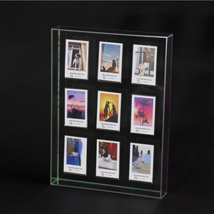 WINKINE iridescent wall mounting acrylic box photo frame