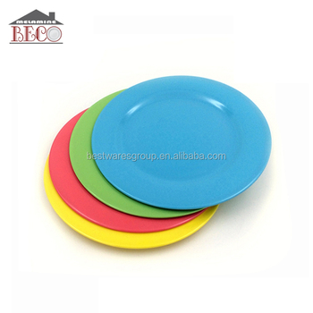 Wholesale Green Plastic Melamine Dinner Plate