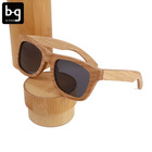 Custom Logo wood rectangle dropshipping oak sunglasses mens