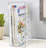 Factory price custom clear plexiglass brochure holder acrylic countertop book rack