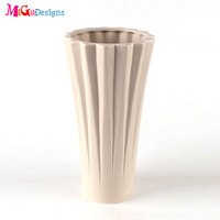 Chinese hotsale wooden type wedding decor ceramic flower vase