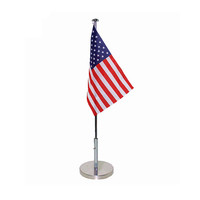 2020 High Quality Huiyi Custom Office Inside Flag With Stand