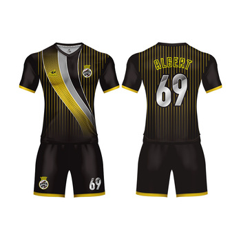 2019 ZHOUKA Top Sale New Football Soccer Team Uniform Wear Design Soccer Jersey Uniform Sets