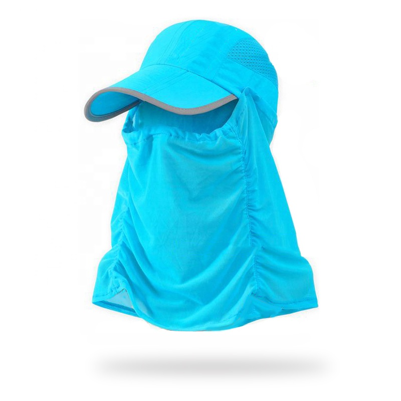 Mens Womens Neck Cover Ear Flap Outdoor Sun Protection Camping Hiking Cap Hat