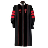 High Quality Church Pulpit Bishop Clergy Choir Robes with Latin Cross