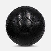 Unbreakable All Black Wear Proof PVC Rubber Tire Surface Street Outdoor Football Soccer Ball In Bulk