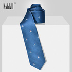Kaidvll Ready To Ship Wholesale Necktie Low MOQ 7 CM Wide Blue School Uniform Ties for Students