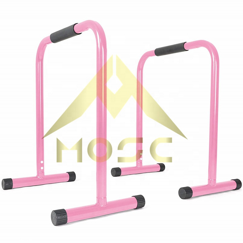 Ao Ar Livre Indoor Gym Fitness Equipment Aço Bar Conjunto de Treino de 2 Parallettes