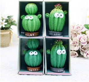 home decor Cactus Succulents Decoration Cartoon Car Anime Dolls Resin Craft Gifts Wholesale