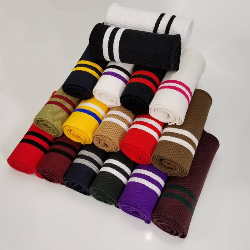 Wholesale clothing accessories striped rib fabric/Cotton elastic rib fabric / 95% cotton rib clothing accessories