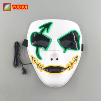 In Stock Neon Party Mask Led Neon Mask for Music Festival EL Products Birthday Favors Luminous Carnaval Masks Halloween Props
