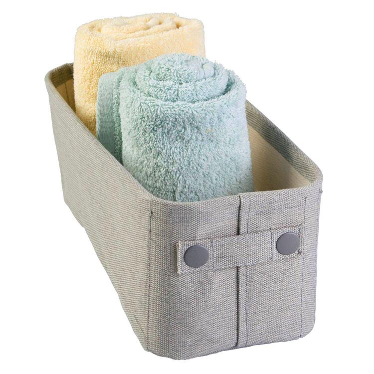 Vlakte Stijl Milieuvriendelijke Canvas Stof Handgrepen Waterdichte Stof Badkamer Handdoek Opslag Mand