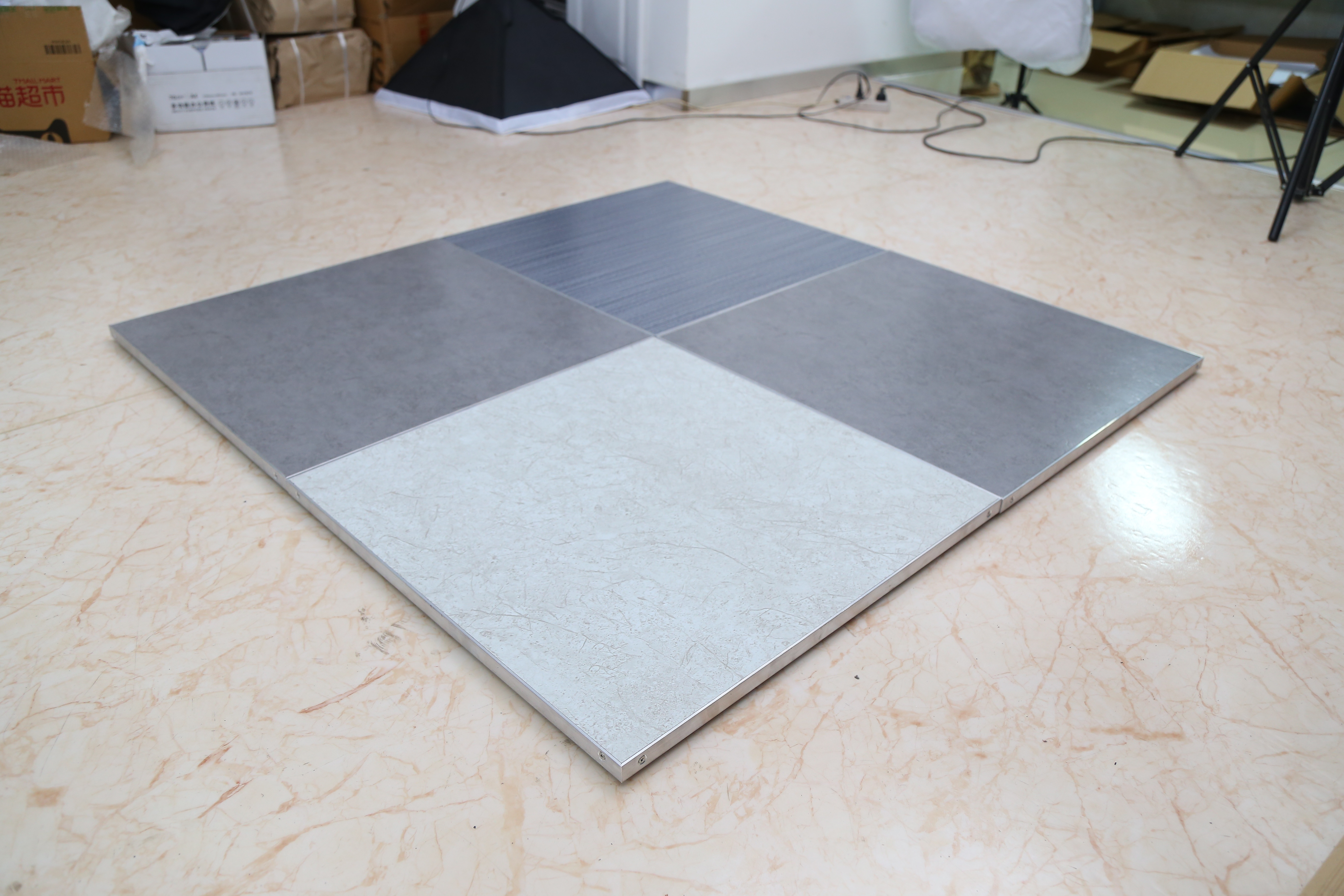 Multifunction portable wood look dance floor 1x1m waterproof