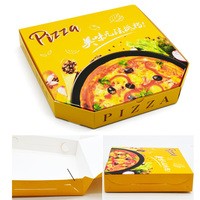 "China Wholesale custom printed corrugated and coated 8"" 9"" 10"" 12"" 14"" 18"" inch Pizza box manufacturer"