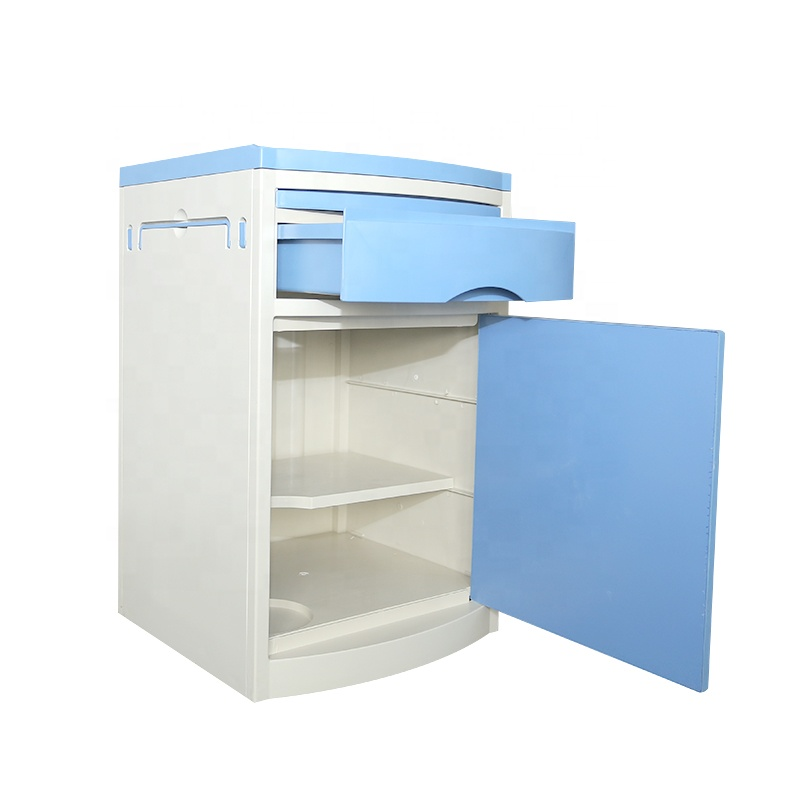 High Quality ABS Hospital Storage Cabinet Multi-functional customizable hospital beside table