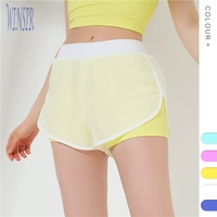 2019 New fashion Sexy Neon Yoga Shorts Sport Wear Two Piece Fitness Workout Running Exercise Short Pants For women