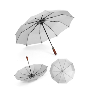 Manual bike umbrella 4 folding magic color changing