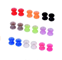 Pair Thin Silicone Ear Skin Flexible Flesh Tunnel Expander Gauge Earlets 9 Colors