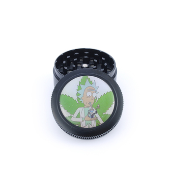 2019 New Updated Rick and Morty Zinc Alloy Herb Grinder