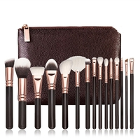 Make up brushes 15pcs professional synthetic hair foundation powder blush cosmetic private label makeup brush sets